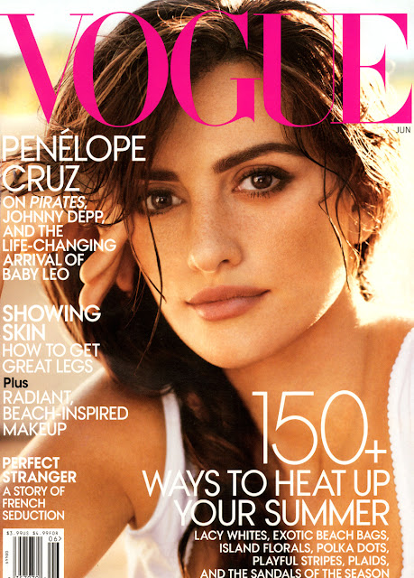 Penelope Cruz On American Vogue 2011 June Magazine Photo Shoot Gallery