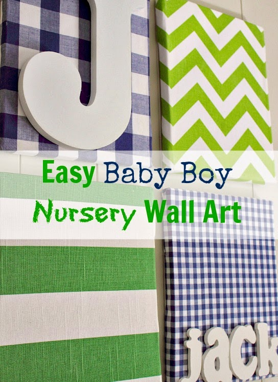 our baby boy has a name and the nursery has some wall art the