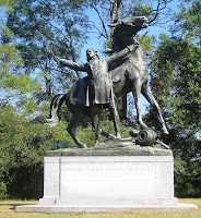Statue of Brig. Gen. Lloyd Tilghman at Vicksburg Memorial Park