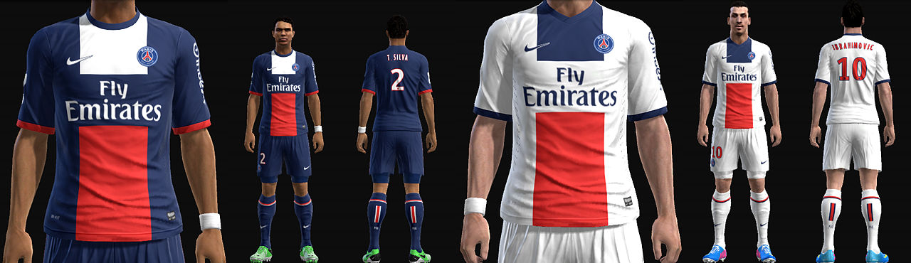 Download New kits PSG 2013/14 PES 2013