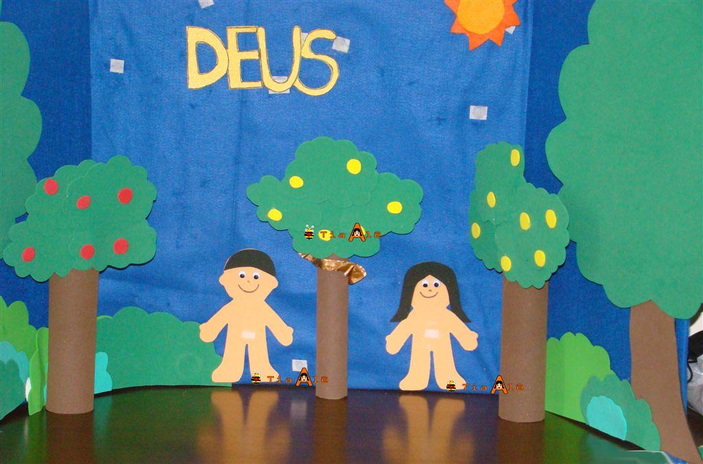 Evangelismo Infantil maquetes do Jardim do Éden