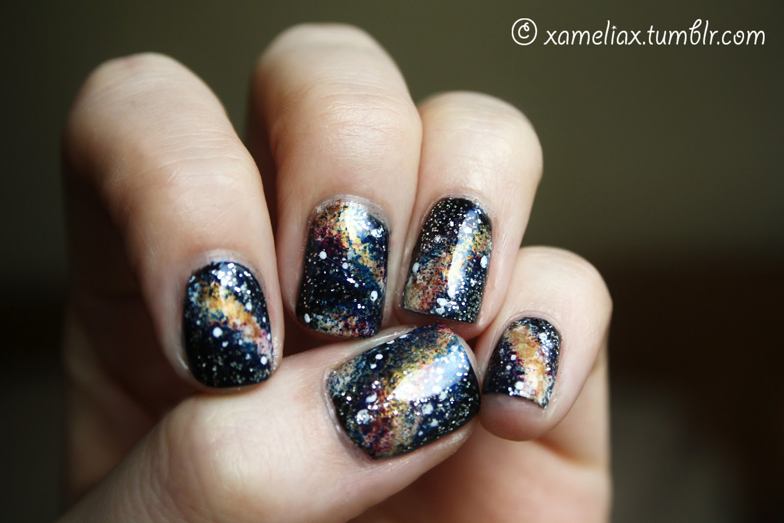 Amelia Paints Nails Galaxy