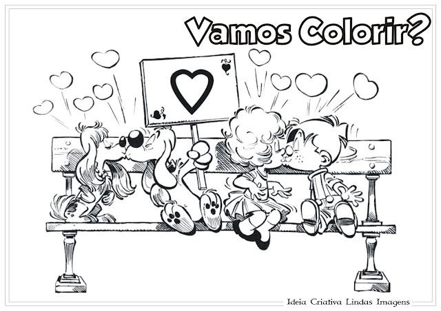 Desenho para colorir Boule e Bill