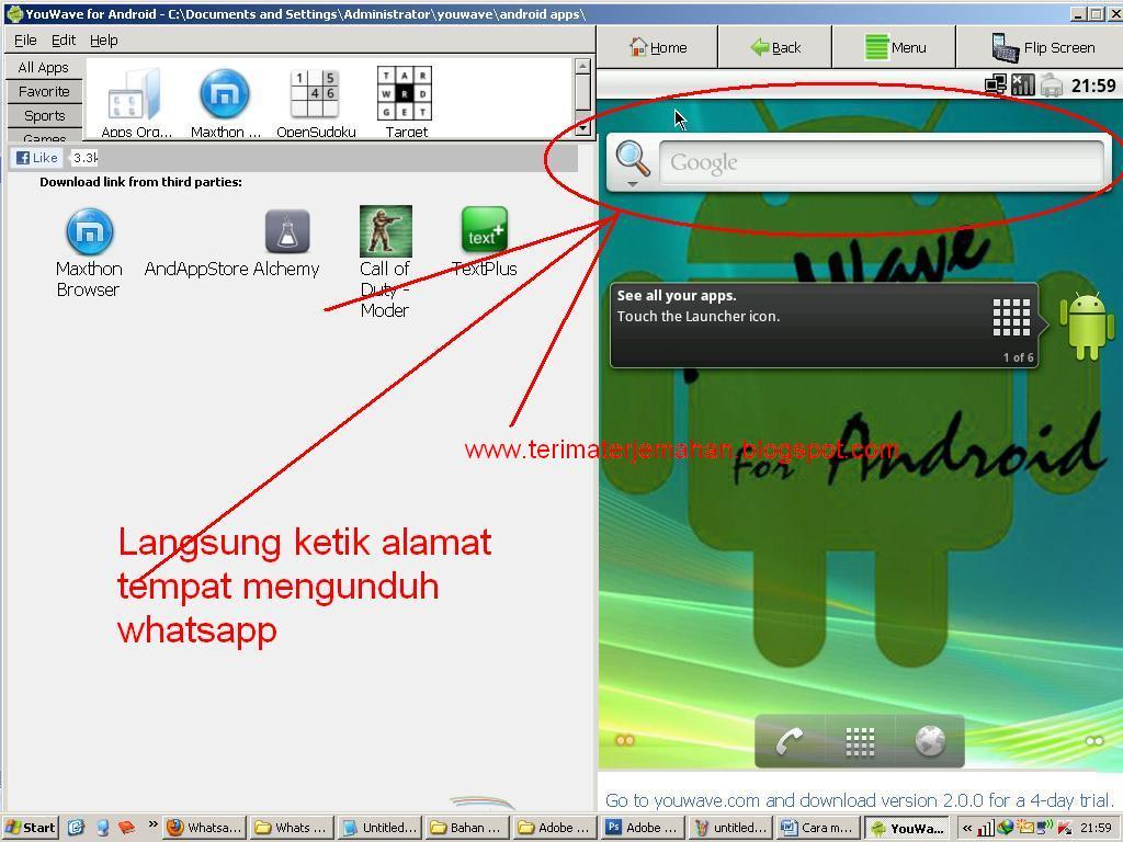 Cara Memasang Whatsapp Di Komputer Win XP 10