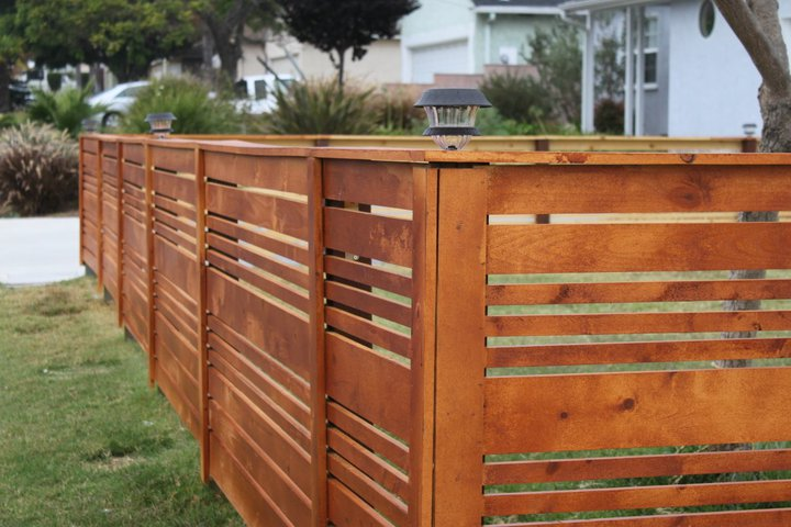 Front Yard Horizontal Fence