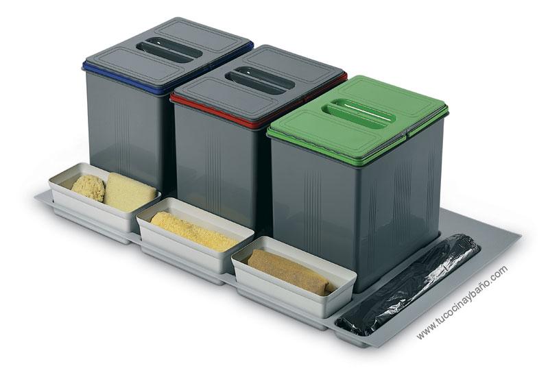 cubos reciclaje cajon