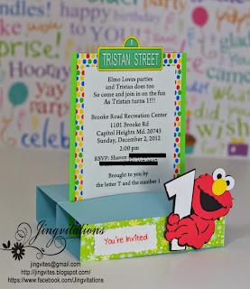 elmo sesame street card
