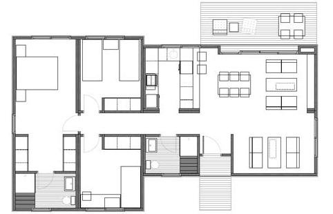 Casas de madera en espa a plano casa madera 99 m2 - Planos de casas de madera gratis ...