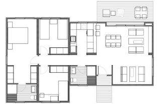 Casas de madera en espa a plano casa madera 99 m2 - Planos de casas en espana ...