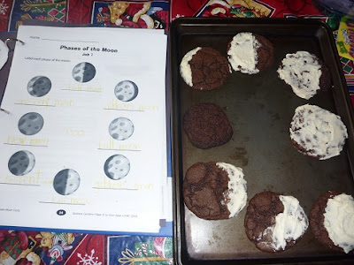 Moon and Oreo Cookie Activity
