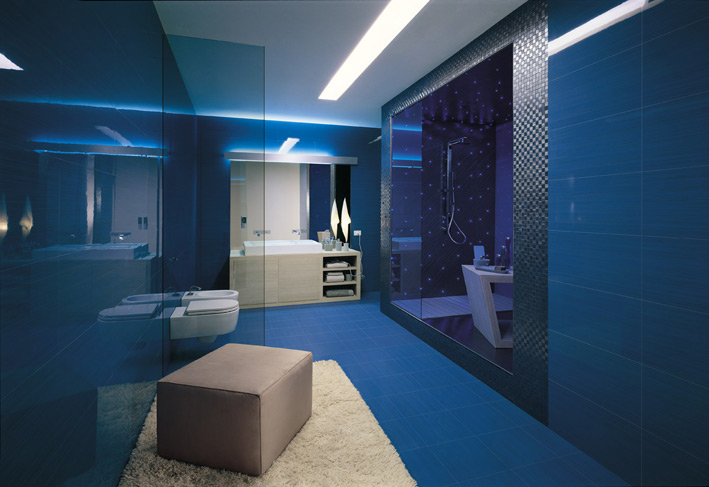 Qu colores elegir para un ba o ideas para decorar for Jabonera de pared bano