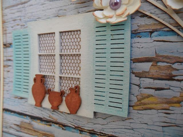 kartka z oknem handmade