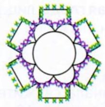 Египетский комплект бижутерии: Браслет и кольцо, связанные крючком, схемы вязания, отделка комплекта