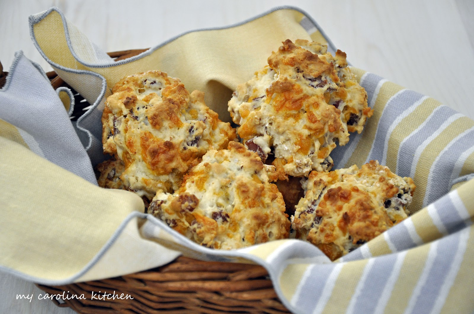 My Carolina Kitchen: Quick Ham and Cheese Biscuits – a low fat ...