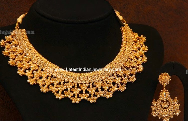 beautiful uncut diamond necklace