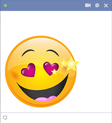 love struck smiley facebook symbols and chat emoticons MEMES
