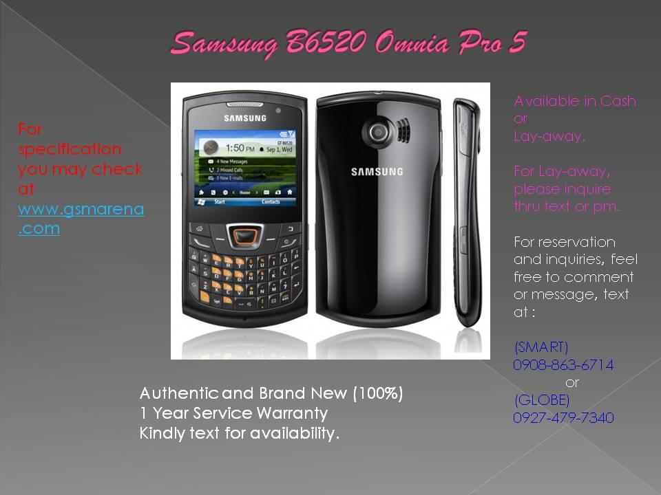 Samsung B6520 Omnia PRO 5 Photos - Samsung B6520 Omnia PRO 5 Photos