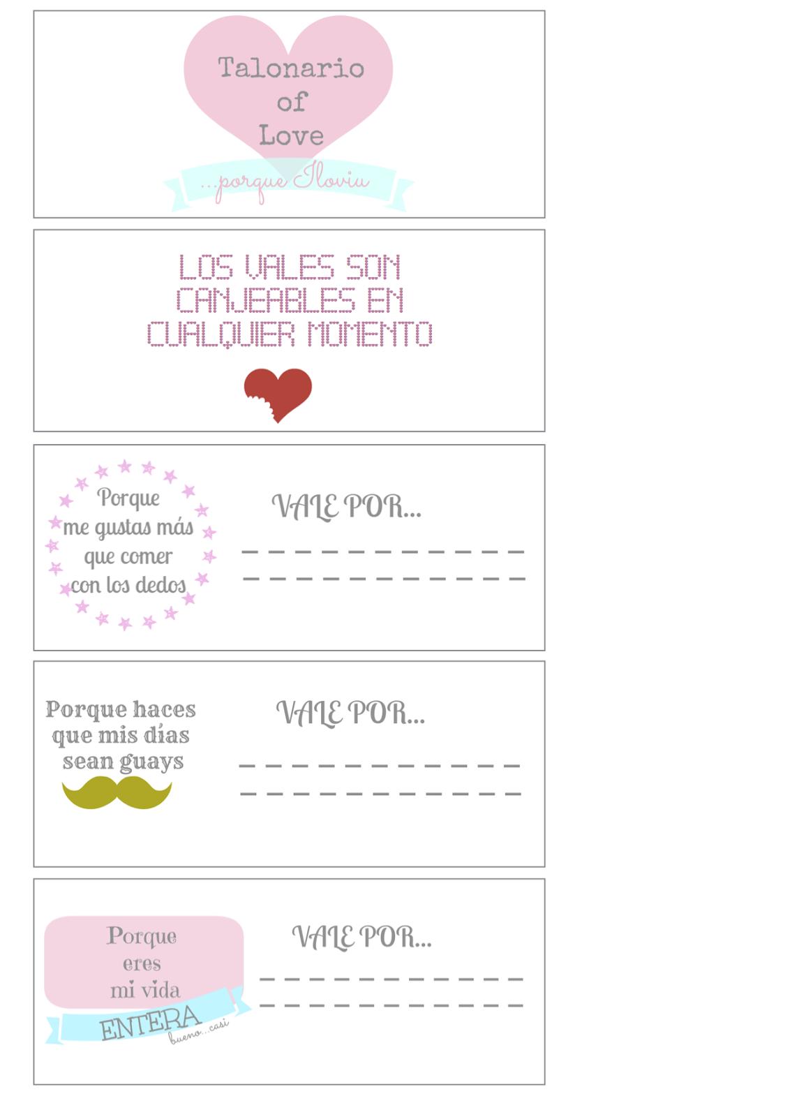 Pitis and lilus talonario de cupones para san valent n for Preparar cita romantica