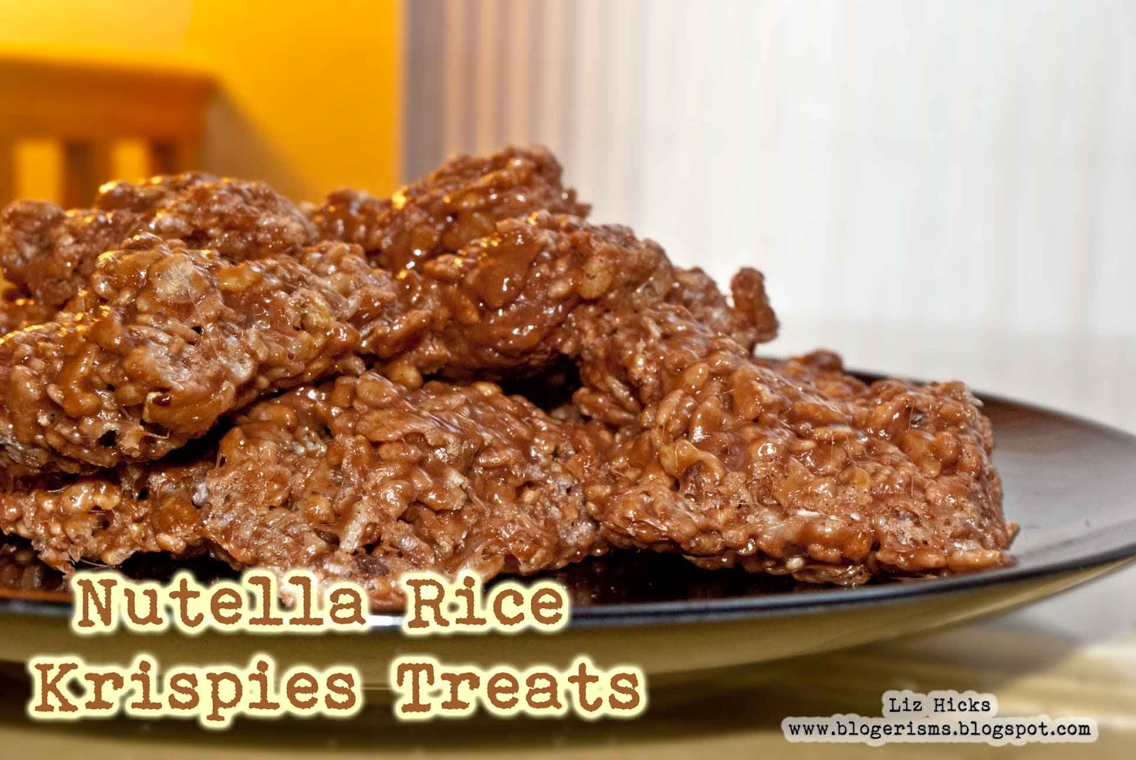 Liz Hicks Studios: Nutella Rice Krispies Treats