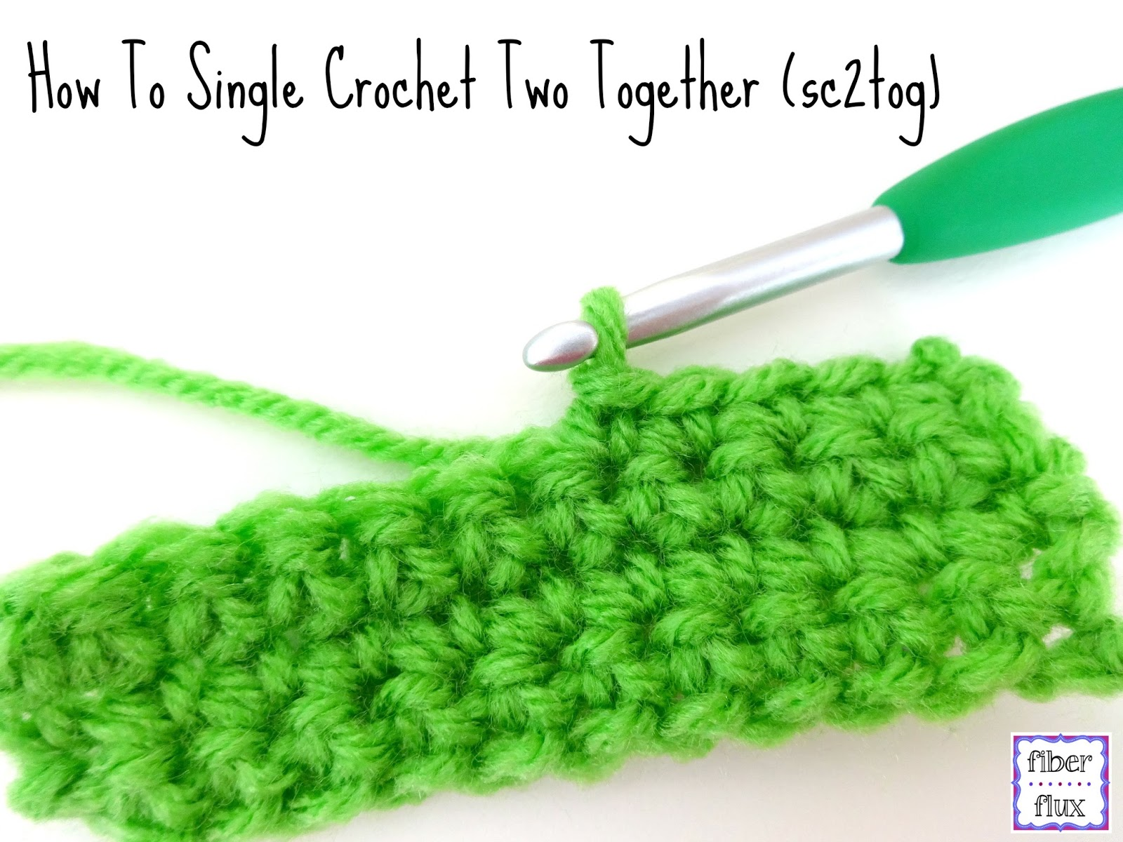 crochet two together stitch or sc2tog as it is abbreviated in crochet ...