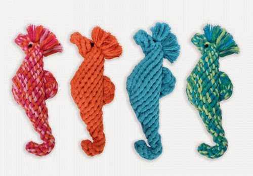 Seahorse dog rope toy from Harry Barker