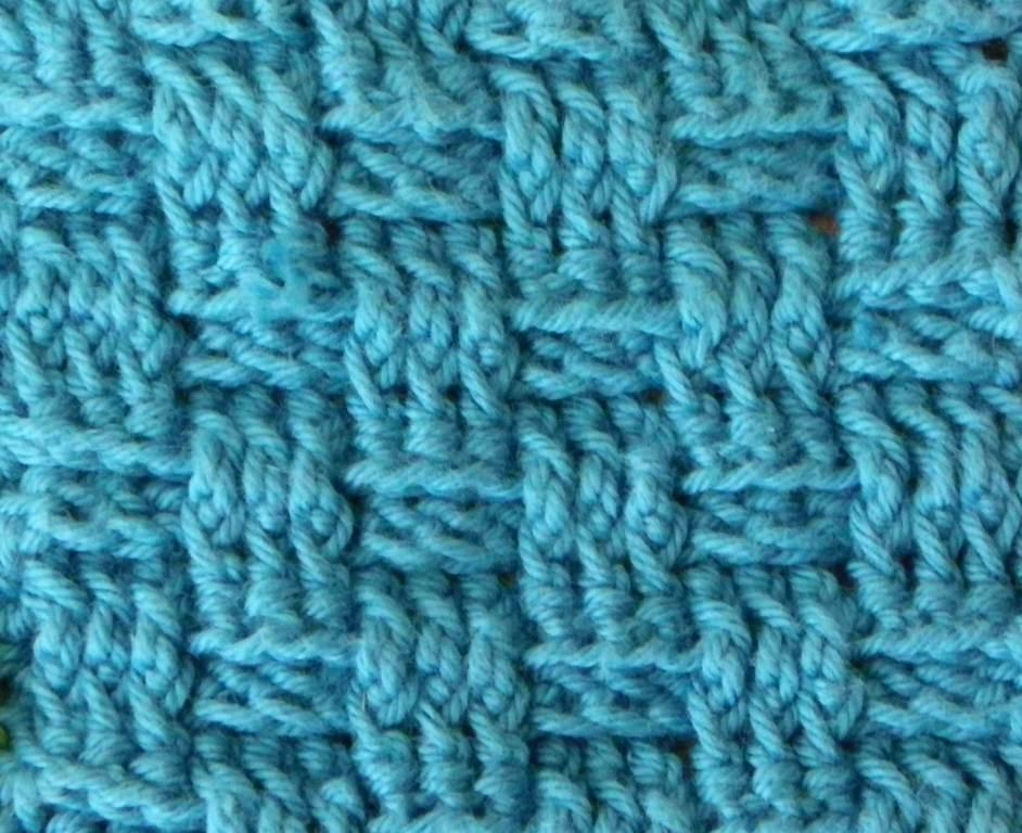 Free Crochet Pattern For Basket Weave Stitch : Basket Weave Pattern Knitting images