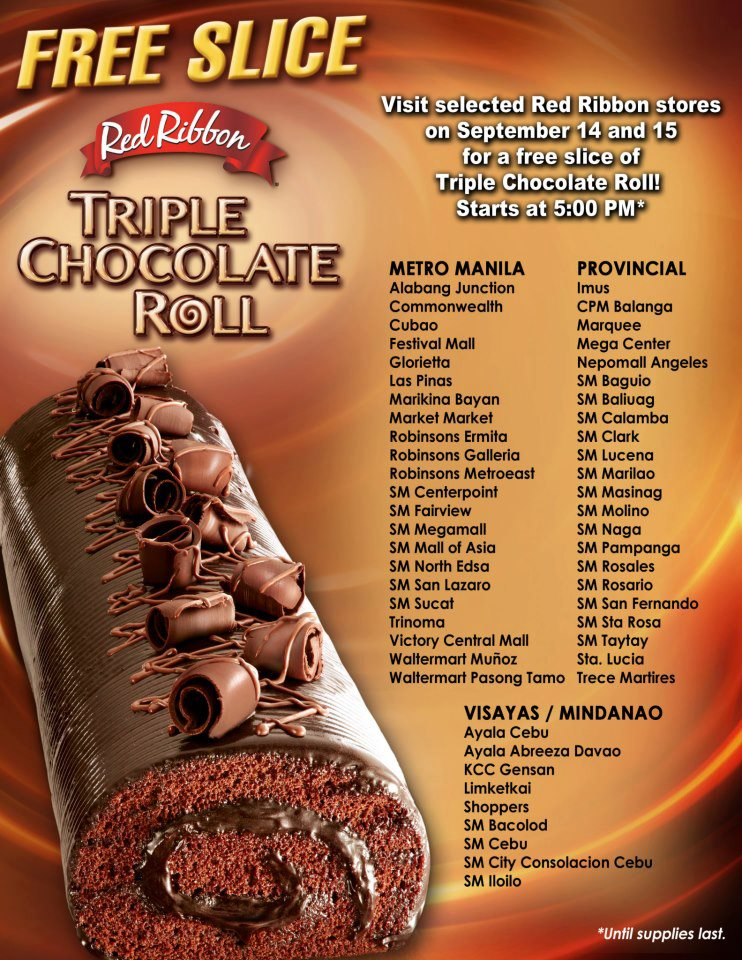 Choco Cake Slice Red Ribbon