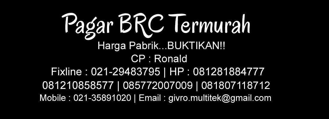 JUAL PAGAR BRC HARGA MURAH | PAGAR BRC JAKARTA