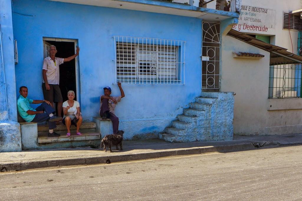 Santiago de Cuba friends sitting outside