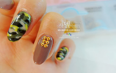 How to do army camo nails