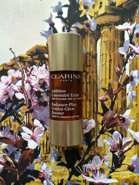 New for spring Clarins radiance pulls golden glow booster