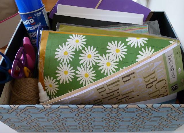 Craft supplies box
