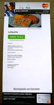 Lafayette: Salvador Restaurant Week