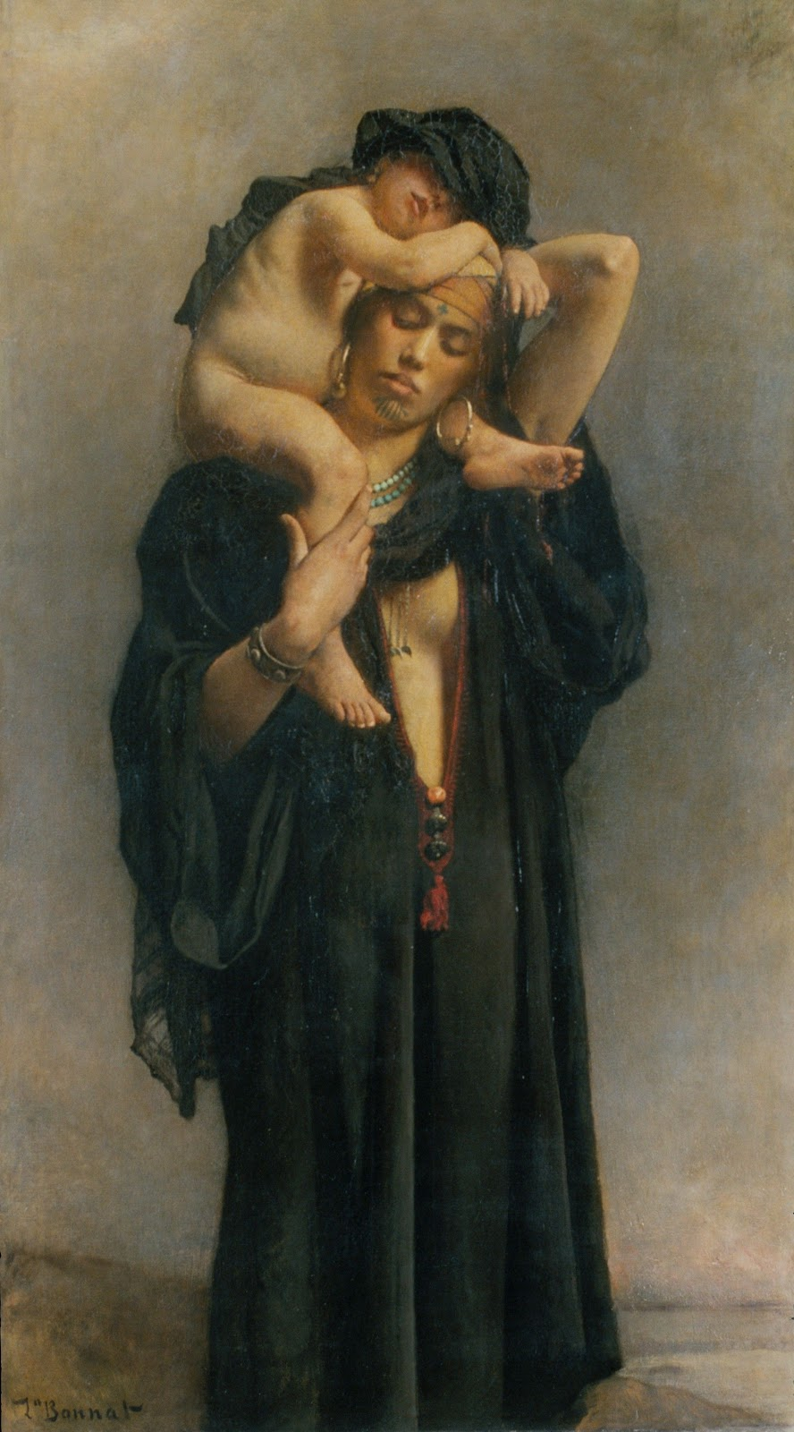 Leon  onnat An Egyptian Peasant Woman and Her Child
