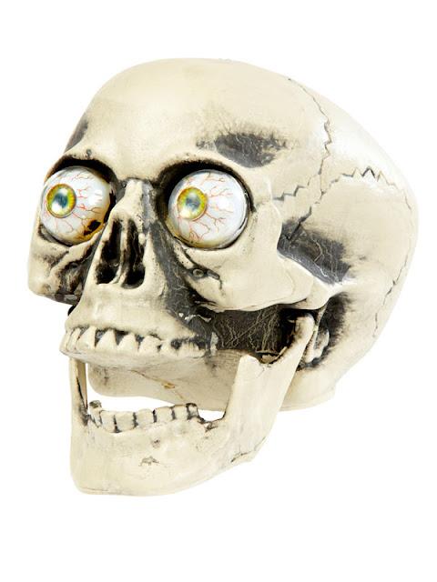 Halloweenpynt kranie med øjne