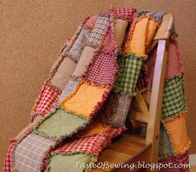 покрывало в стиле rag quilt осенние цвета