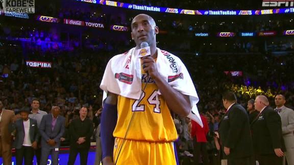 Kobe Bryant'ın veda konuşması (Türkçe)