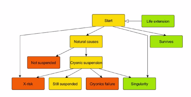Sandberg model of cryonics