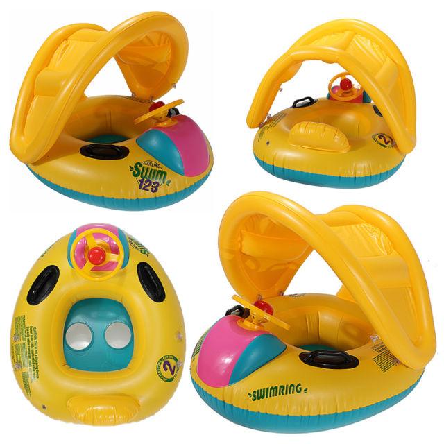 flotador bebe con parasol
