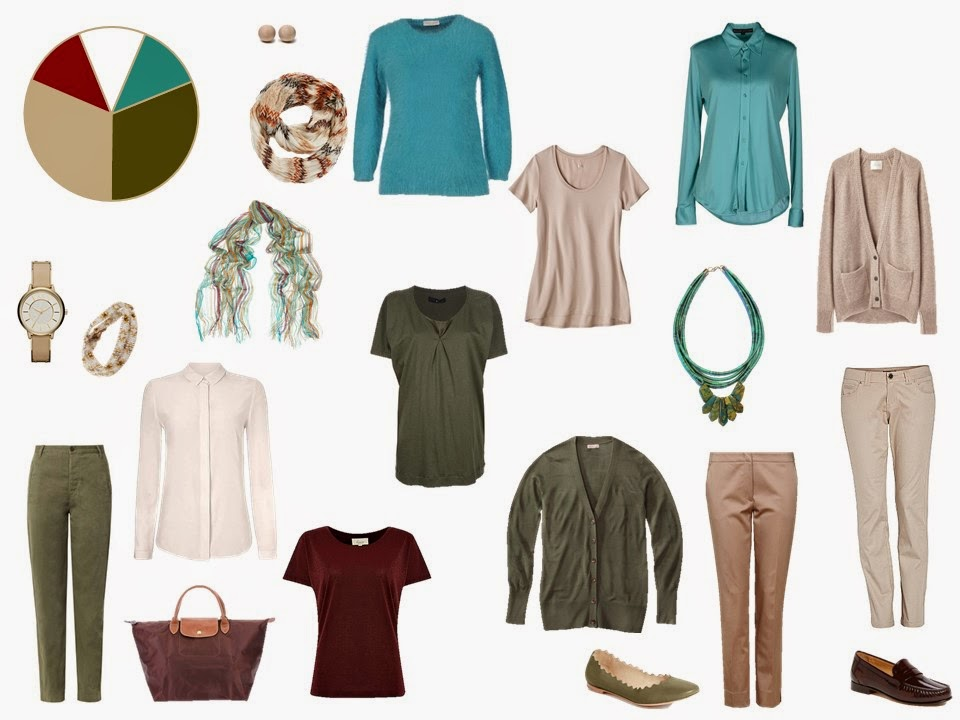 11 piece khaki and olive travel capsule wardrobe