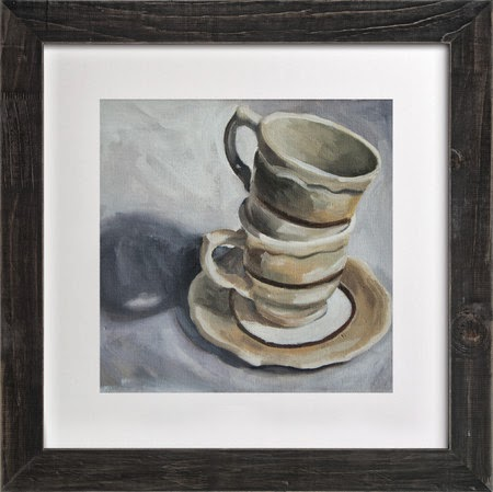 Stacked Coffee Still Life in Oil by Two if by Sea Studios