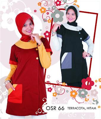 Katalog Fashion Osmoes Pakaian Wanita Muslim Terakota Hitam