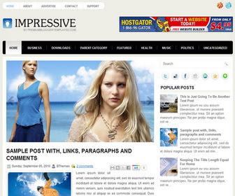 Impressive Blogger Template
