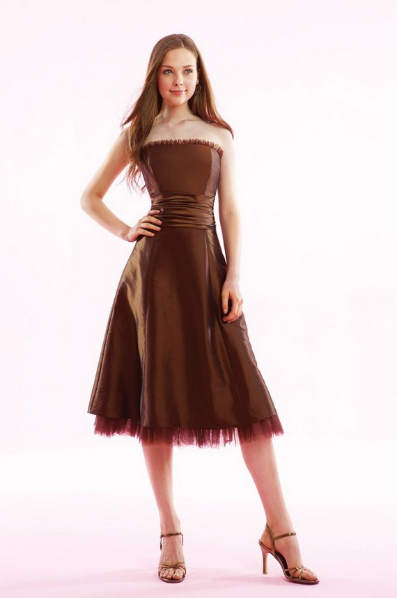 Bridesmaid dresses elegant brown bridesmaid dresses for Brown dresses for wedding guest