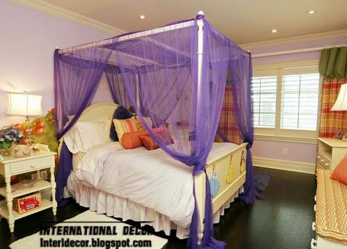 purple canopy bed for girls, canopy beds for girls room