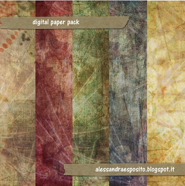 Grunge Scrapbook papers from Alessandra Esposito