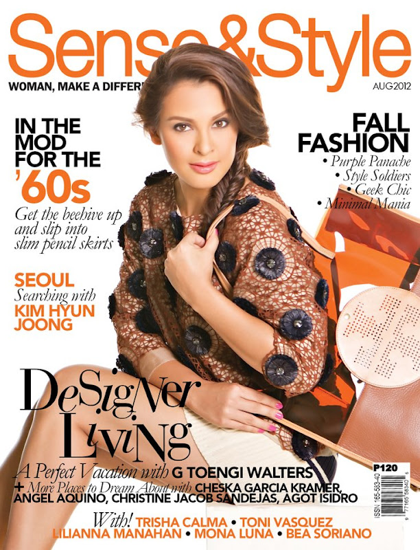 G Toengi Walters In Tory Burch Photographed By Pia Puno On The Cover Of Sense Style Magazine