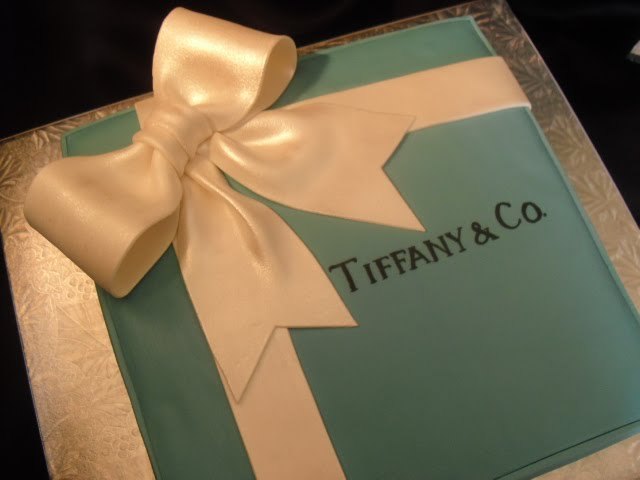 Tiffany Co Gift Box Cake