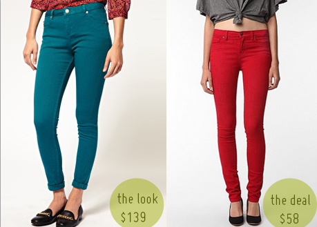 Colored High Waisted Jeans