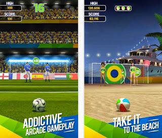 Flick Soccer Brazil - Game Sepak bola terbaru Android